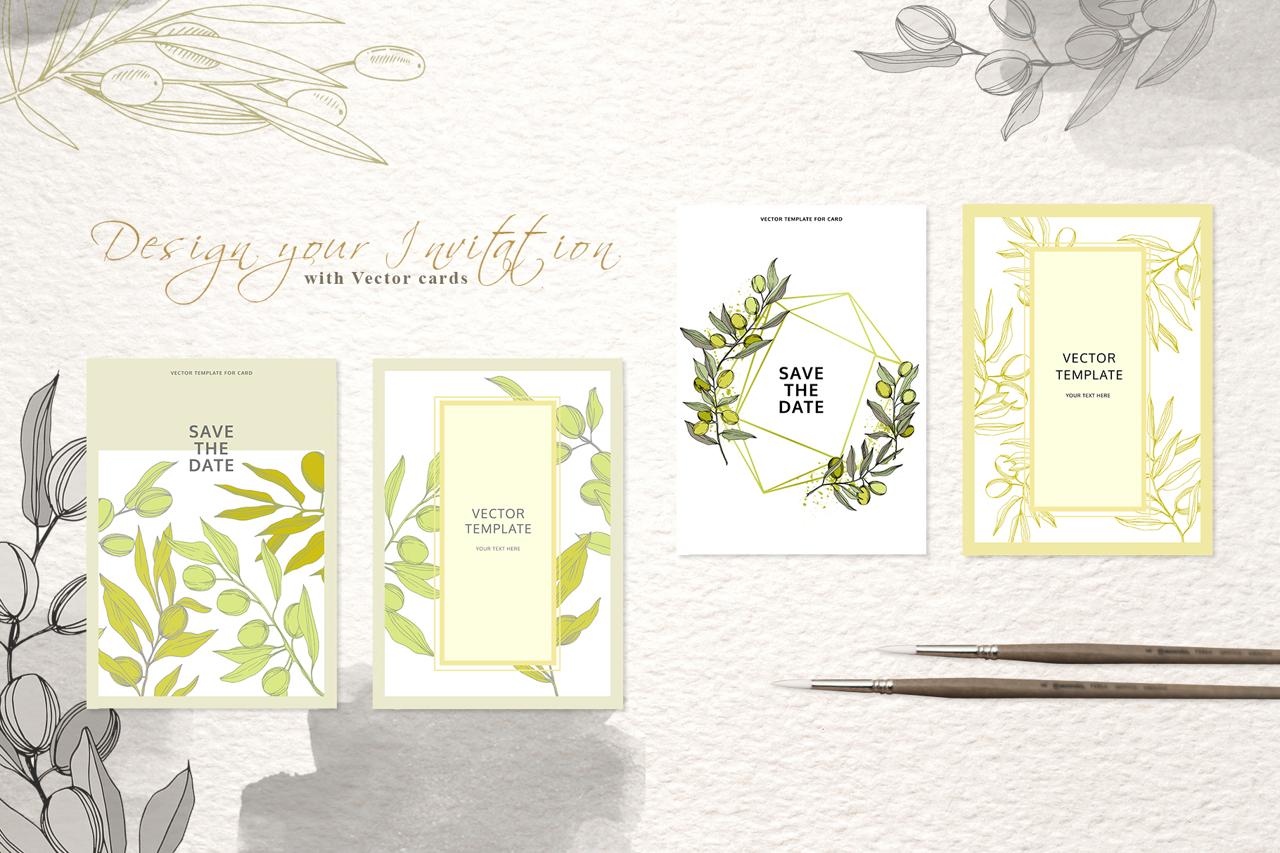 Tuscan Spirit watercolor and vector set example image 6