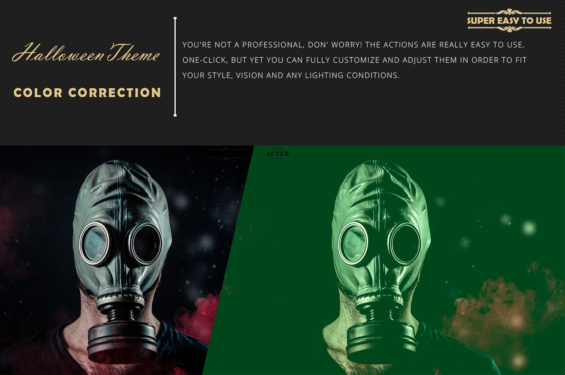 Halloween Theme color grading Photoshop Actions example image 5