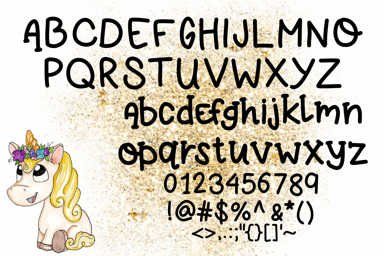 Unicorn Farts Handwritten Font example image 4
