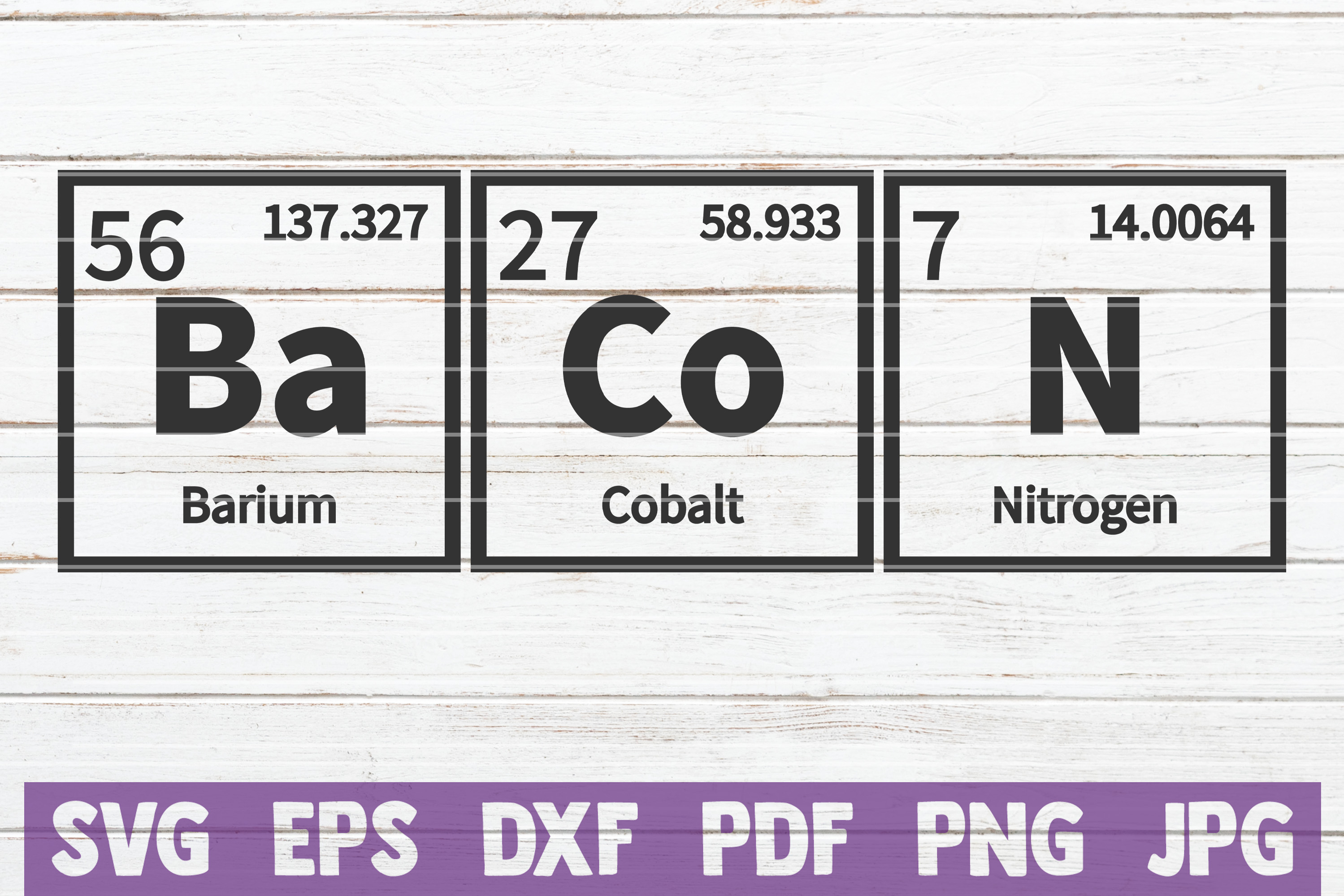 Bacon Periodic Table SVG Cut File | commercial use example image 1