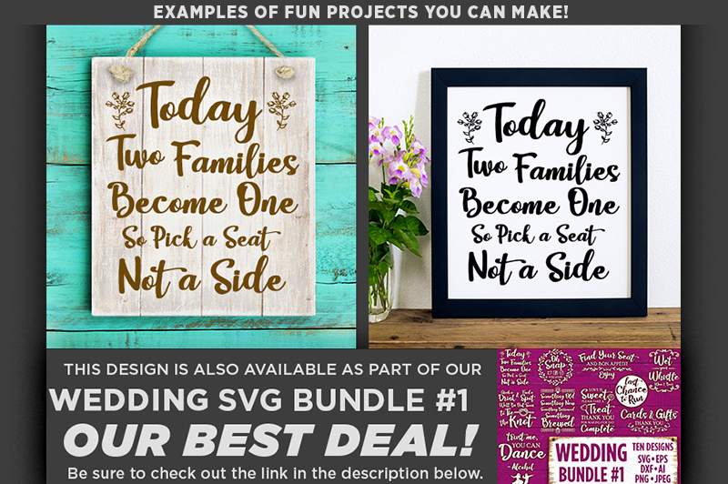 Today Two Families Become One SVG File - Wedding SVG - 5501 example image 2