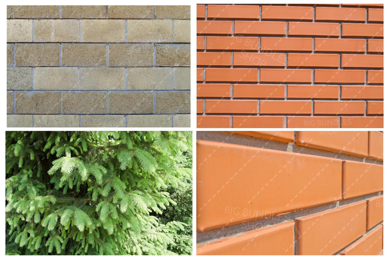 Bricks, fence and greenery example image 4
