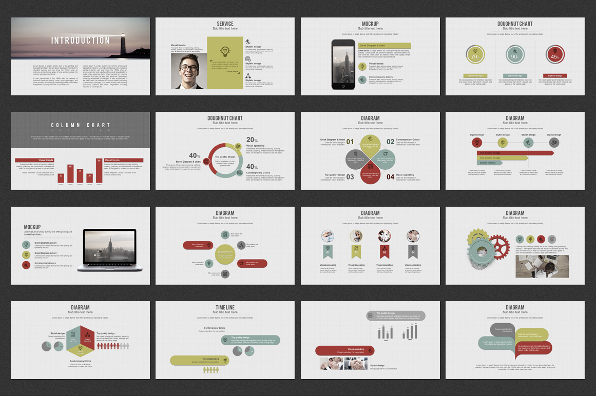 Grid PowerPoint Template example image 4