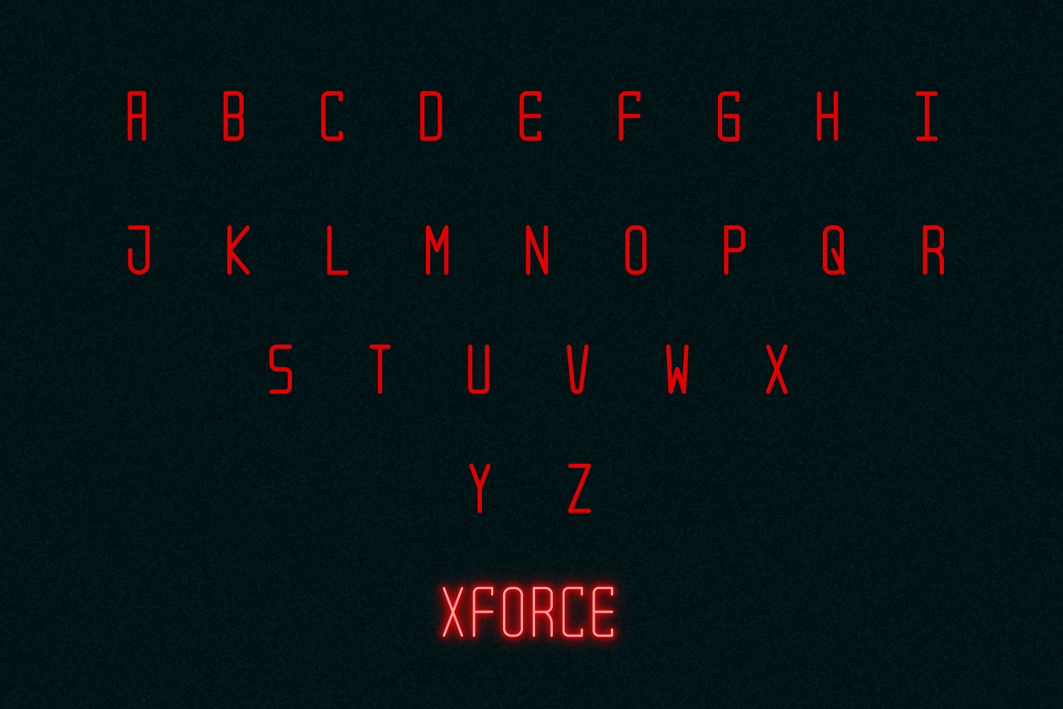 XForce - Minimal Tech Font example image 2