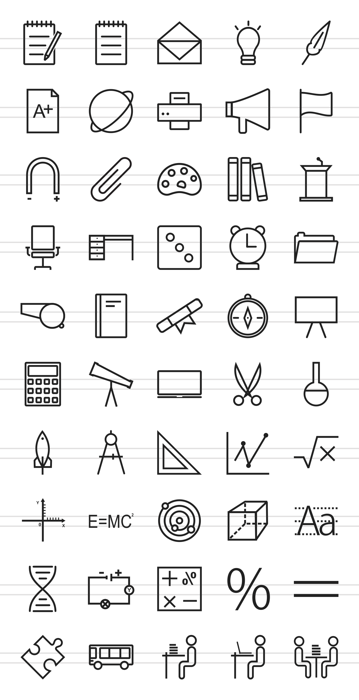 50 Education & Science Line Icons example image 2