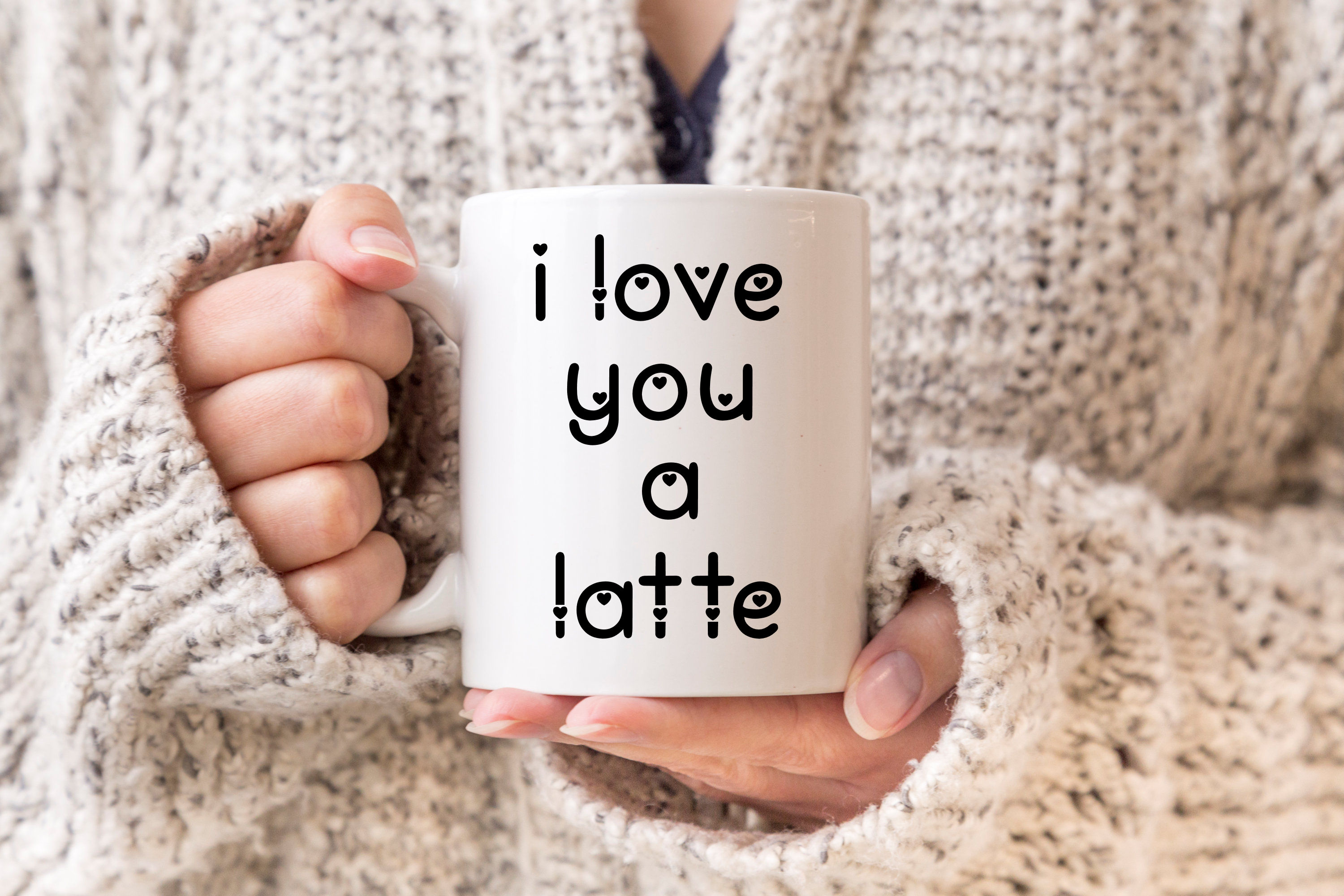 Love You Lots - a lowercase font with and without hearts example image 6