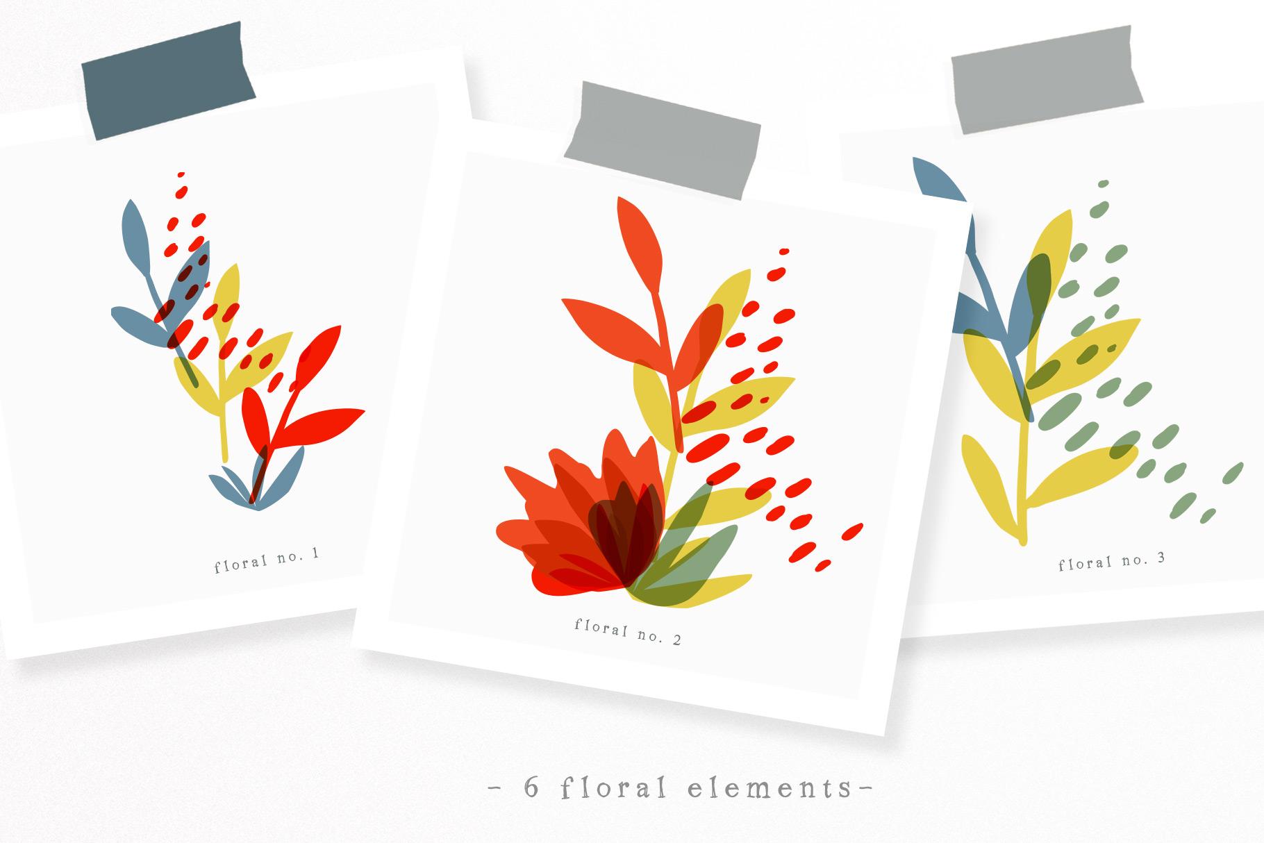 Botanical Basics Pattern Set example image 5
