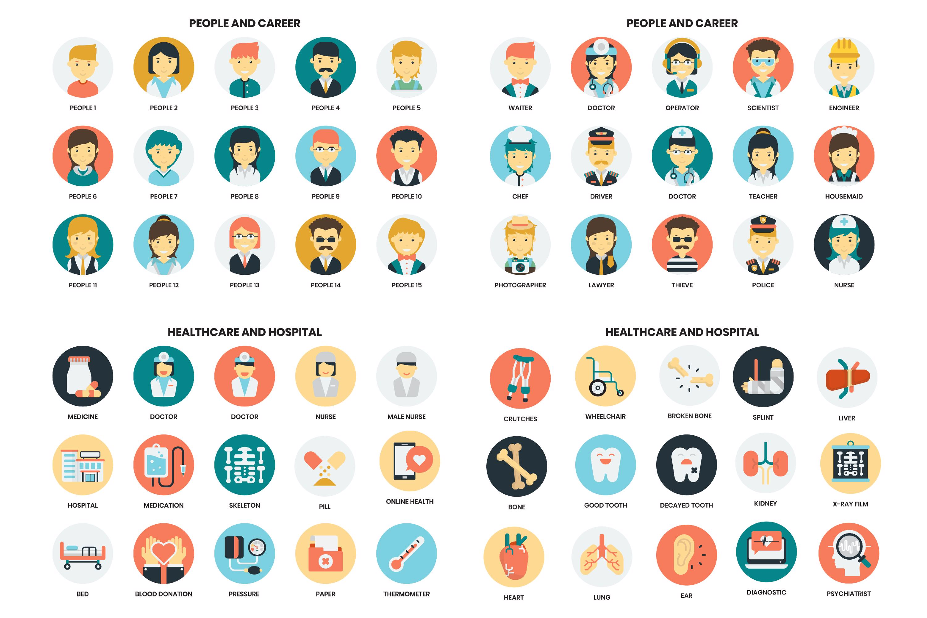 1155 PERFECT ICONS SET example image 15