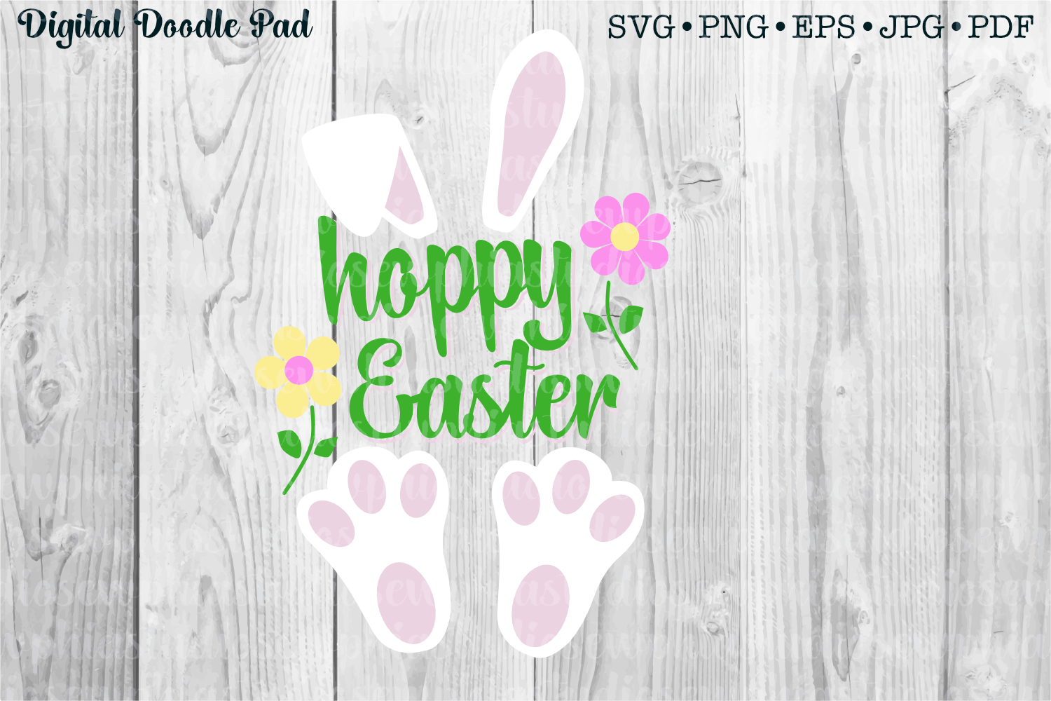 Hoppy Happy Easter by Digital Doodle Pad example image 1