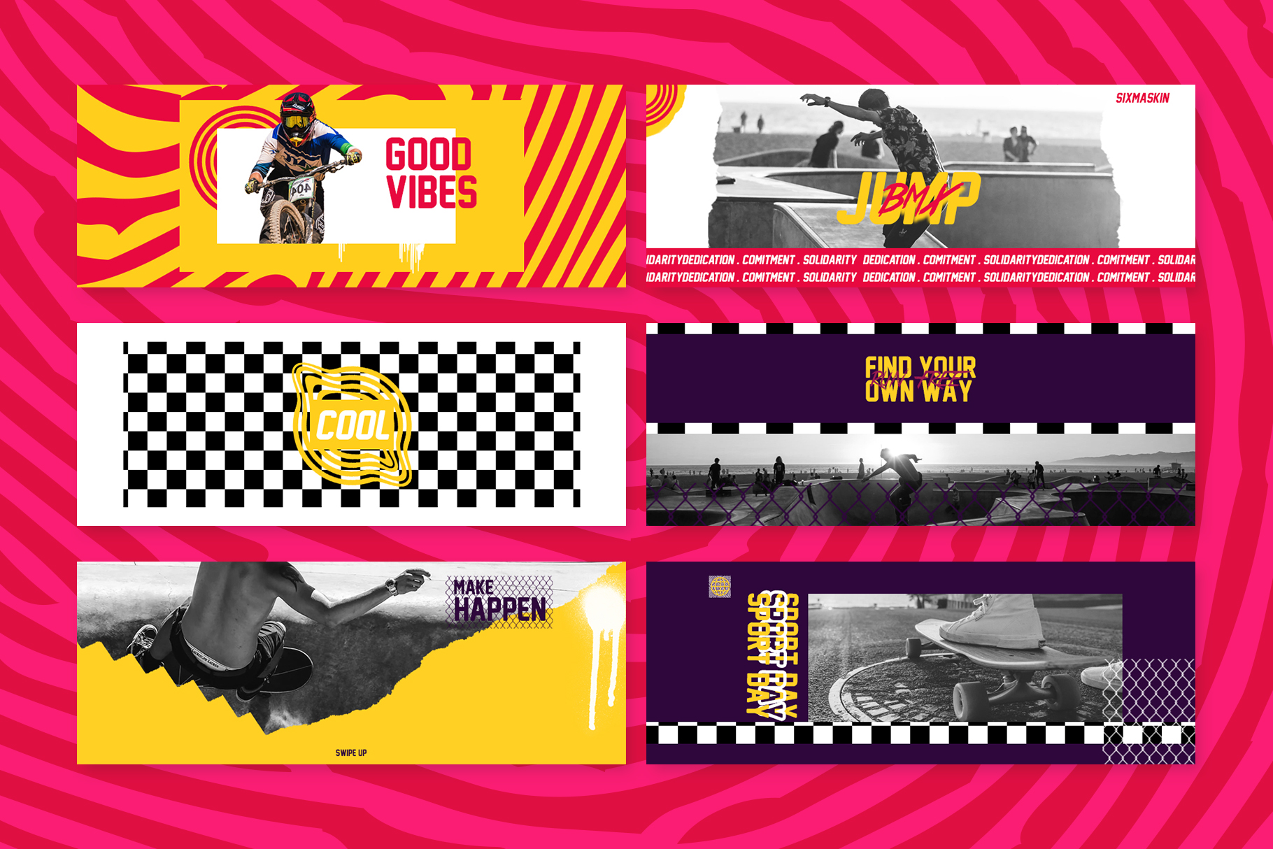 Skate Facebook Cover Templates example image 3