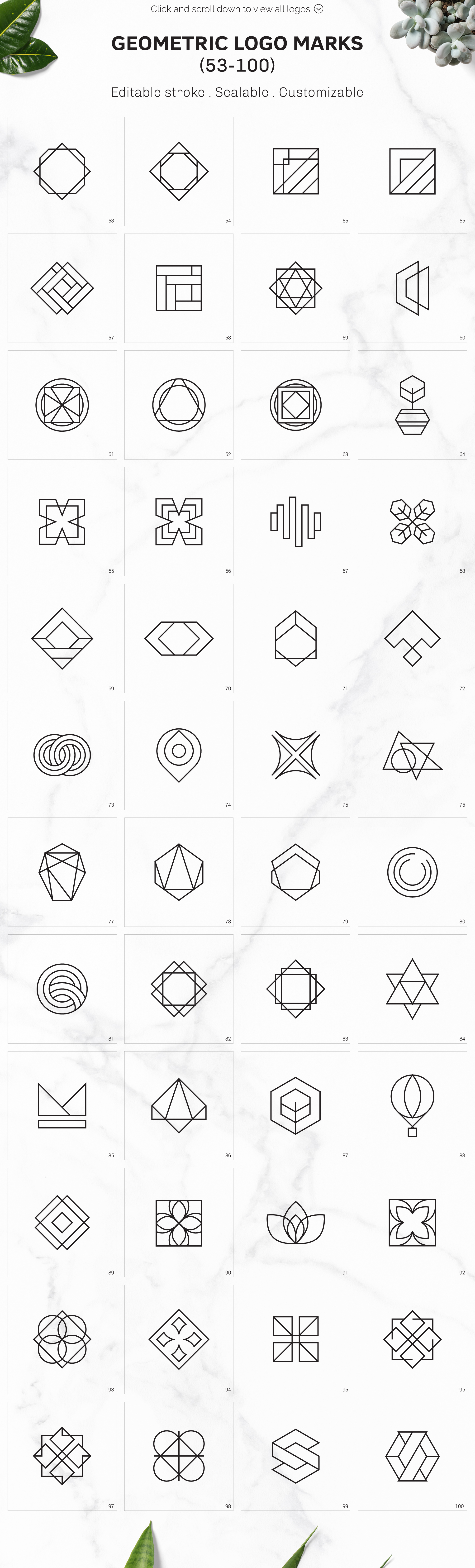 300 Geometric Premade Logo Bundle example image 8