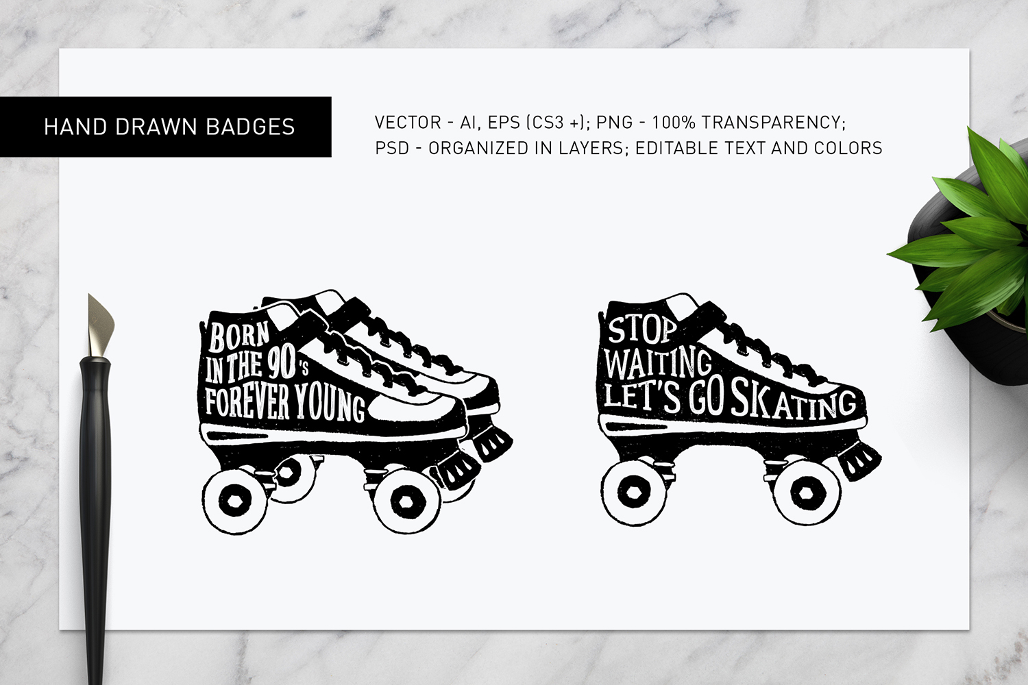 Good Shoes. 8 Inspirational Badges example image 9