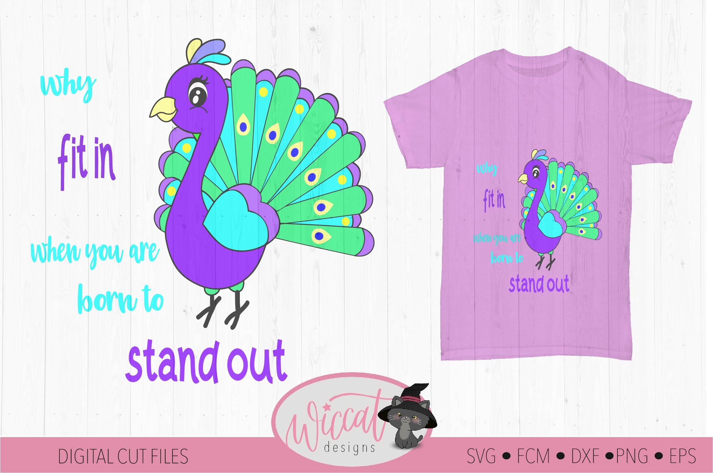 Peacock svg, bird svg, kids cut file example image 2