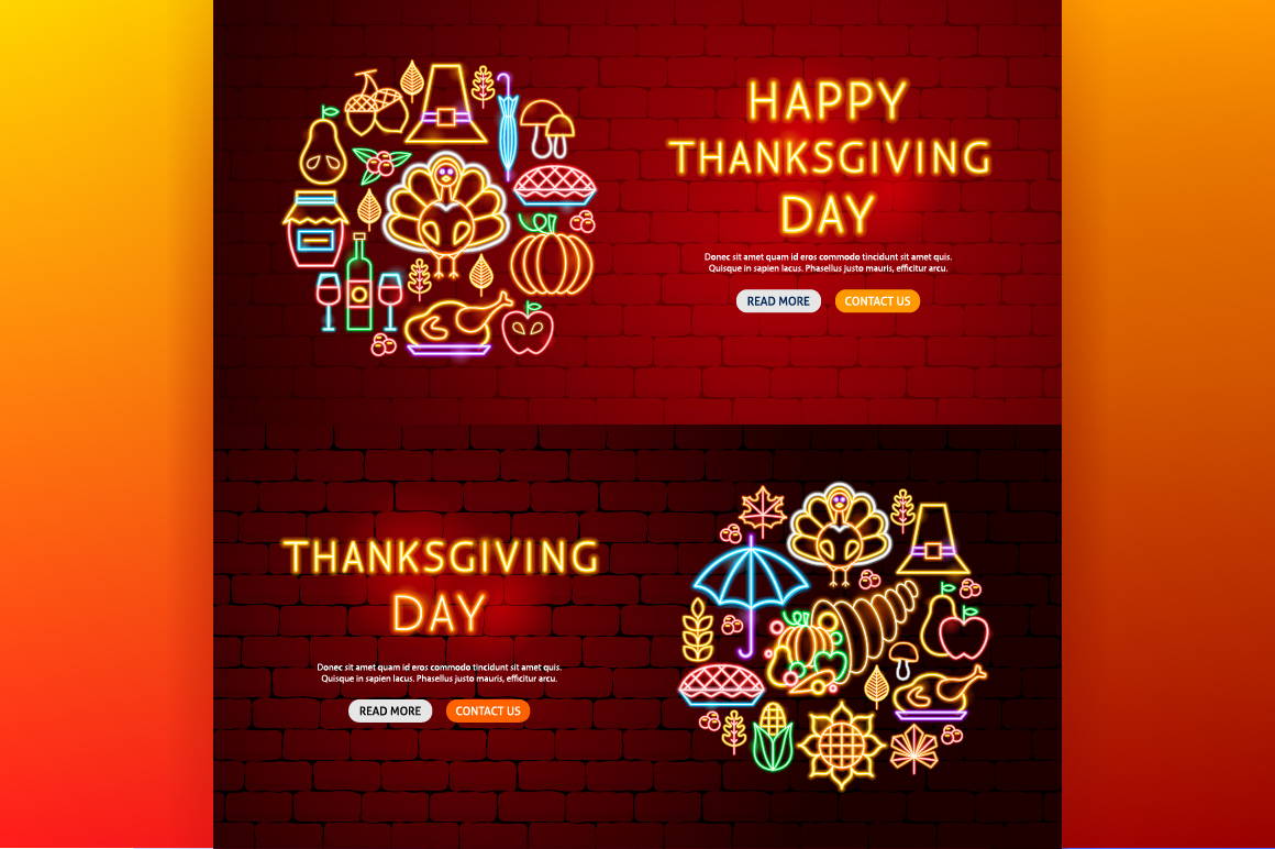 Thanksgiving Day Neon example image 6
