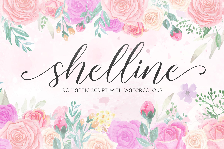 Shelline - Romantic Script example image 11