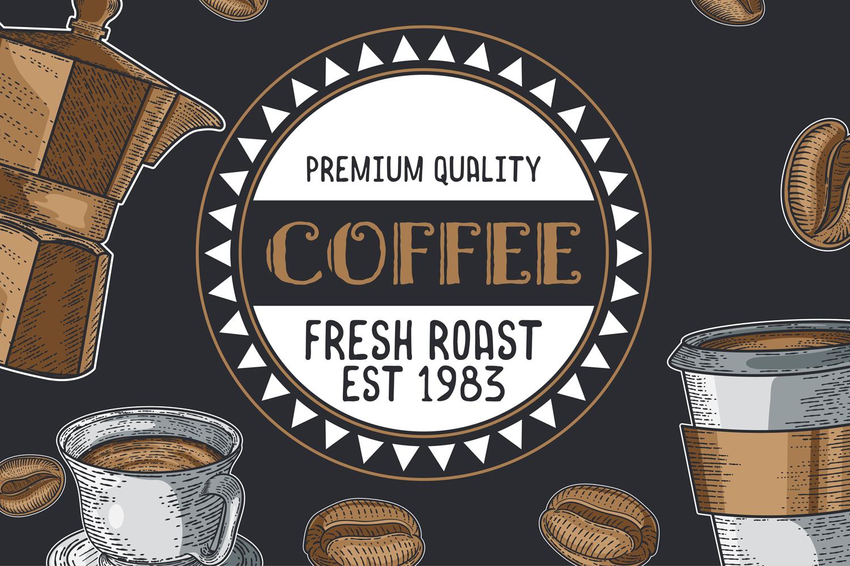 15 designs - Coffee restaurant brochure vector, coffee shop example image 5