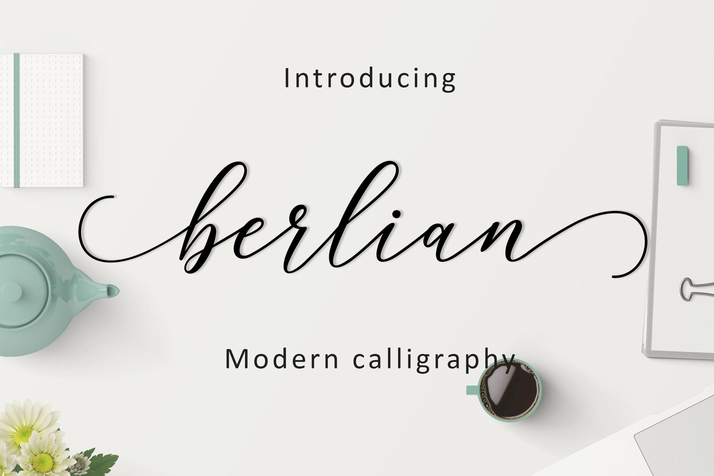 Berlian Script example image 1