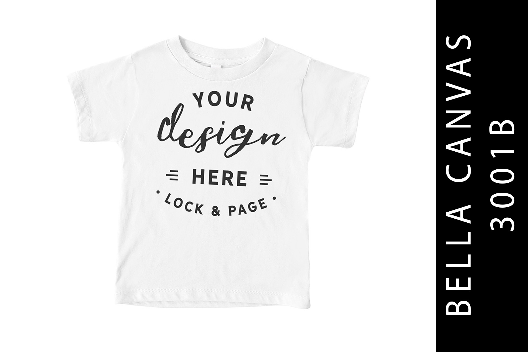 White Kids Bella Canvas 3001B T-Shirt Mockup Toddler example image 1