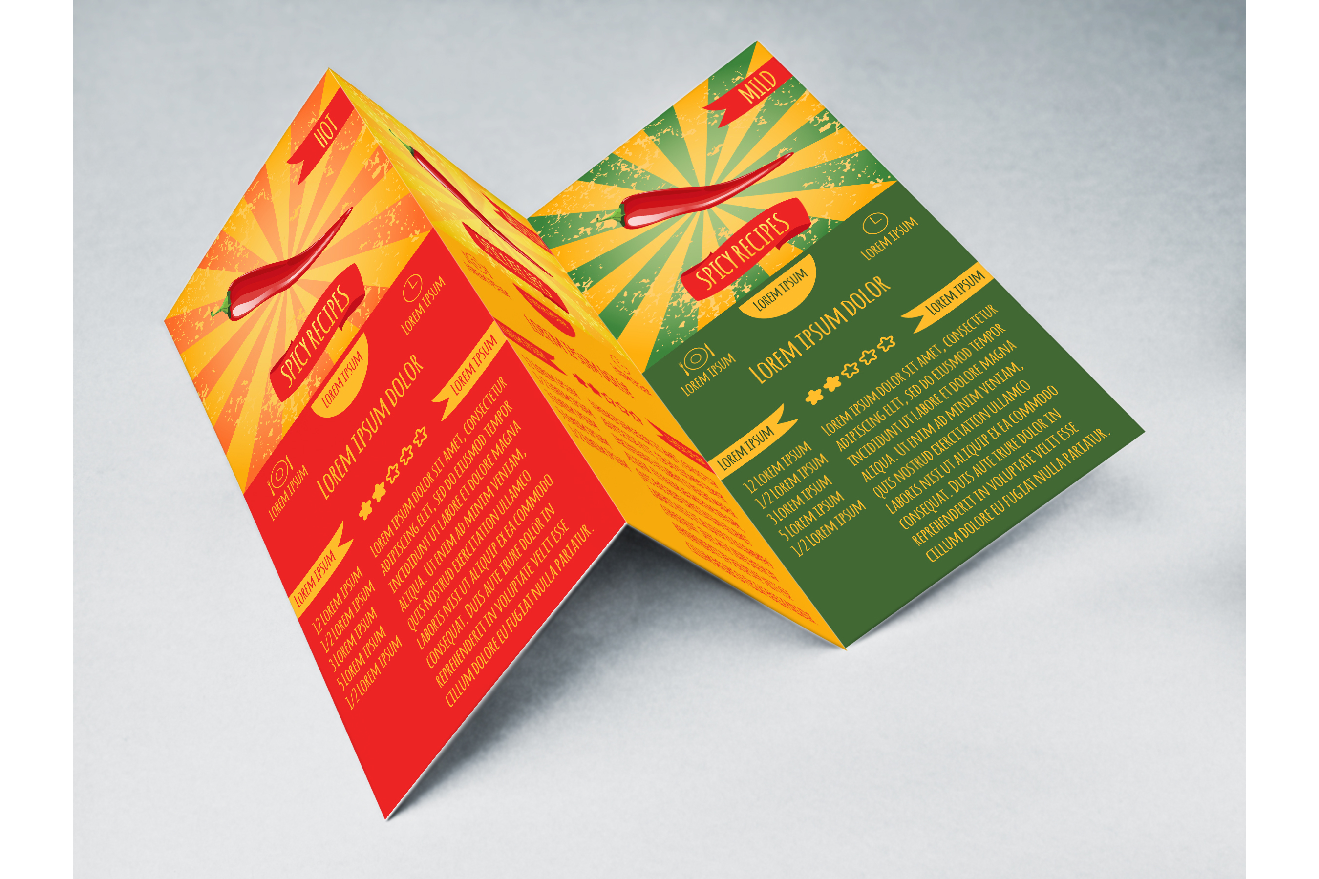Set flyers. Recipes spicy dishes example image 2