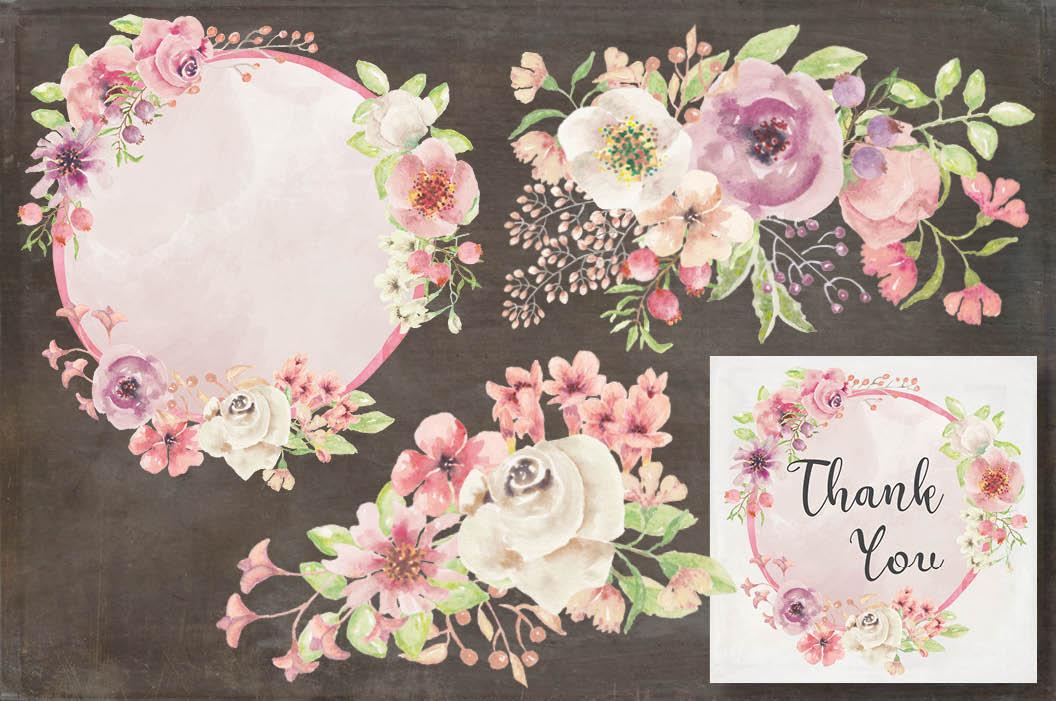 'Blushing Bride': wedding clip art set example image 5