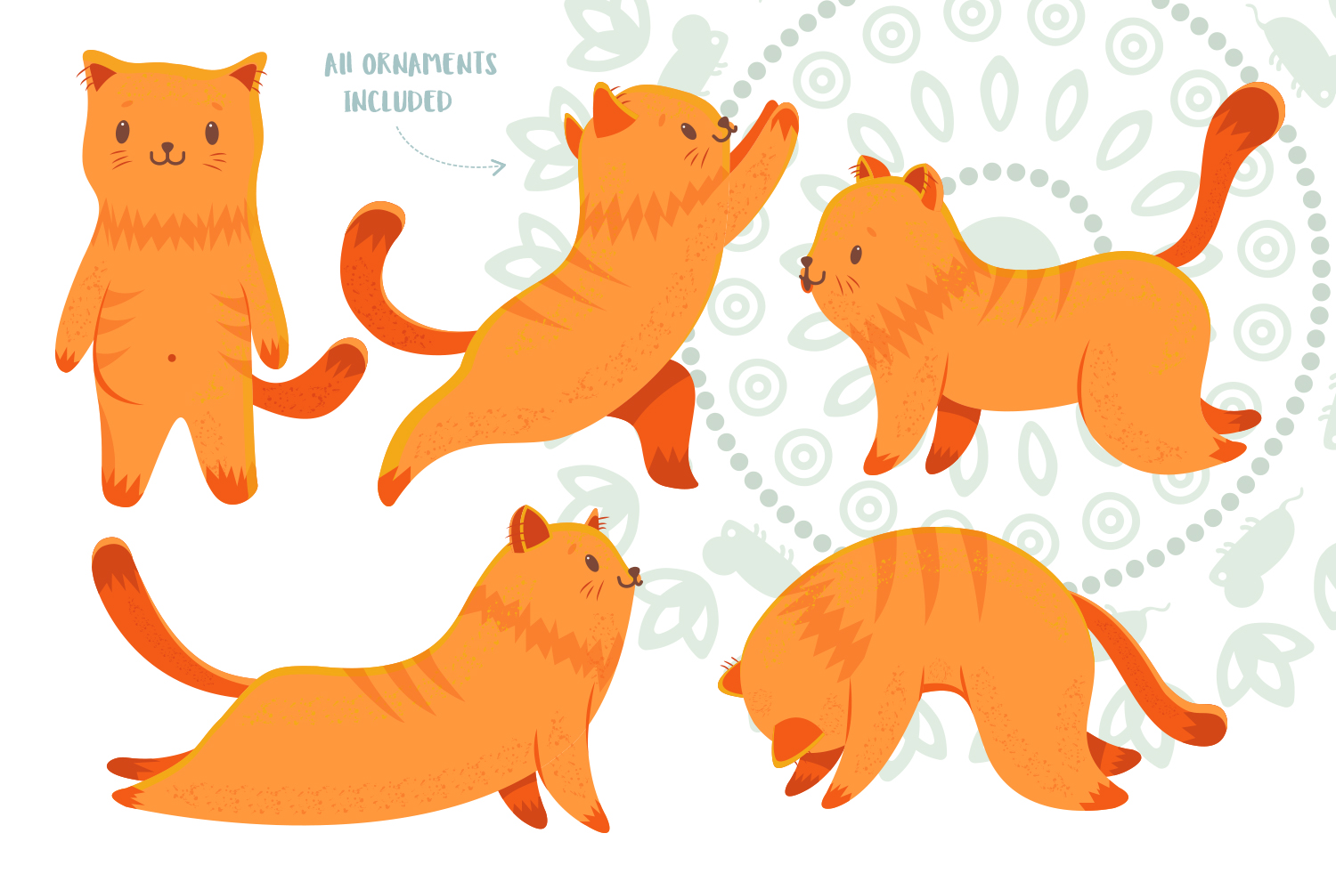 Yoga Cats Clipart Collection example image 2