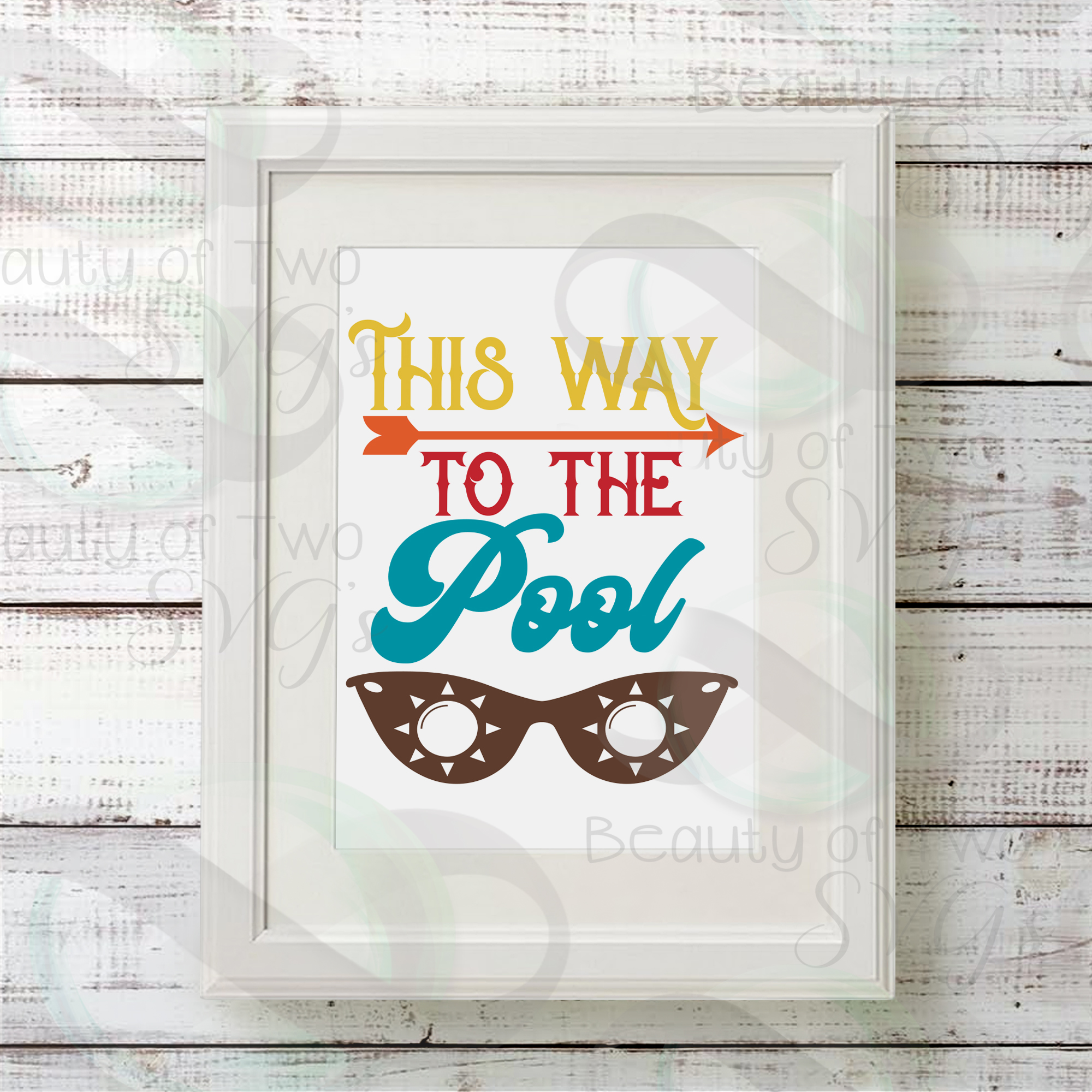 Sunglasses svg, This way to the pool svg and png, pool svg example image 2