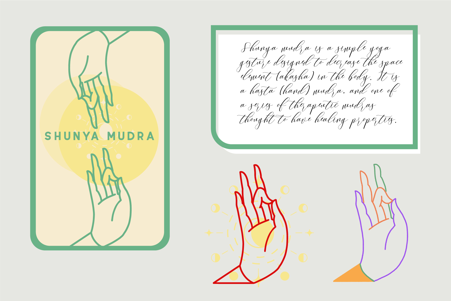 10 Mudras & Logo Pack. SVG/Ai/PNG example image 8