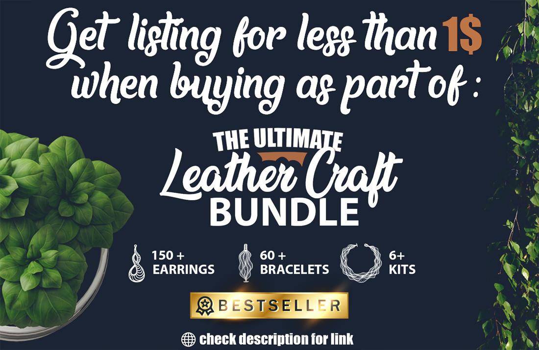 Leather Jewelry CUT Template- Earrings - Bracelets - VOL 1 example image 4