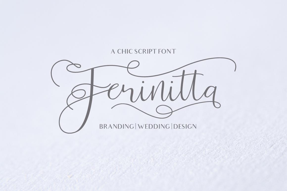 Ferinitta - Chic Calligraphy example image 1