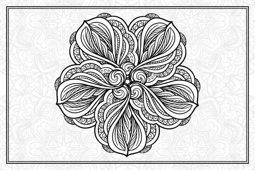 Black and white mandalas set example image 7