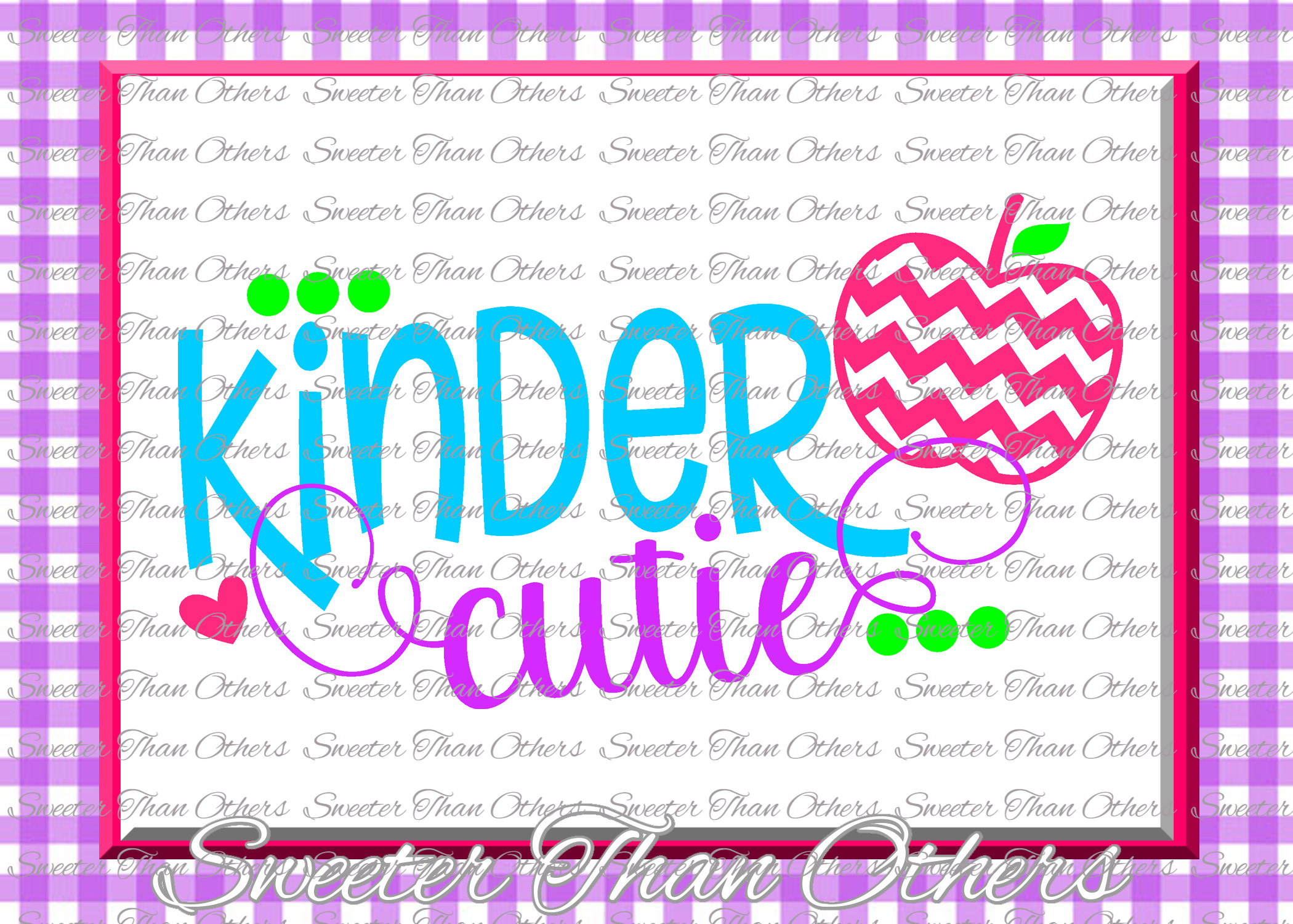 Kinder Cutie SVG Kinder Grade cut file First Day of School example image 1