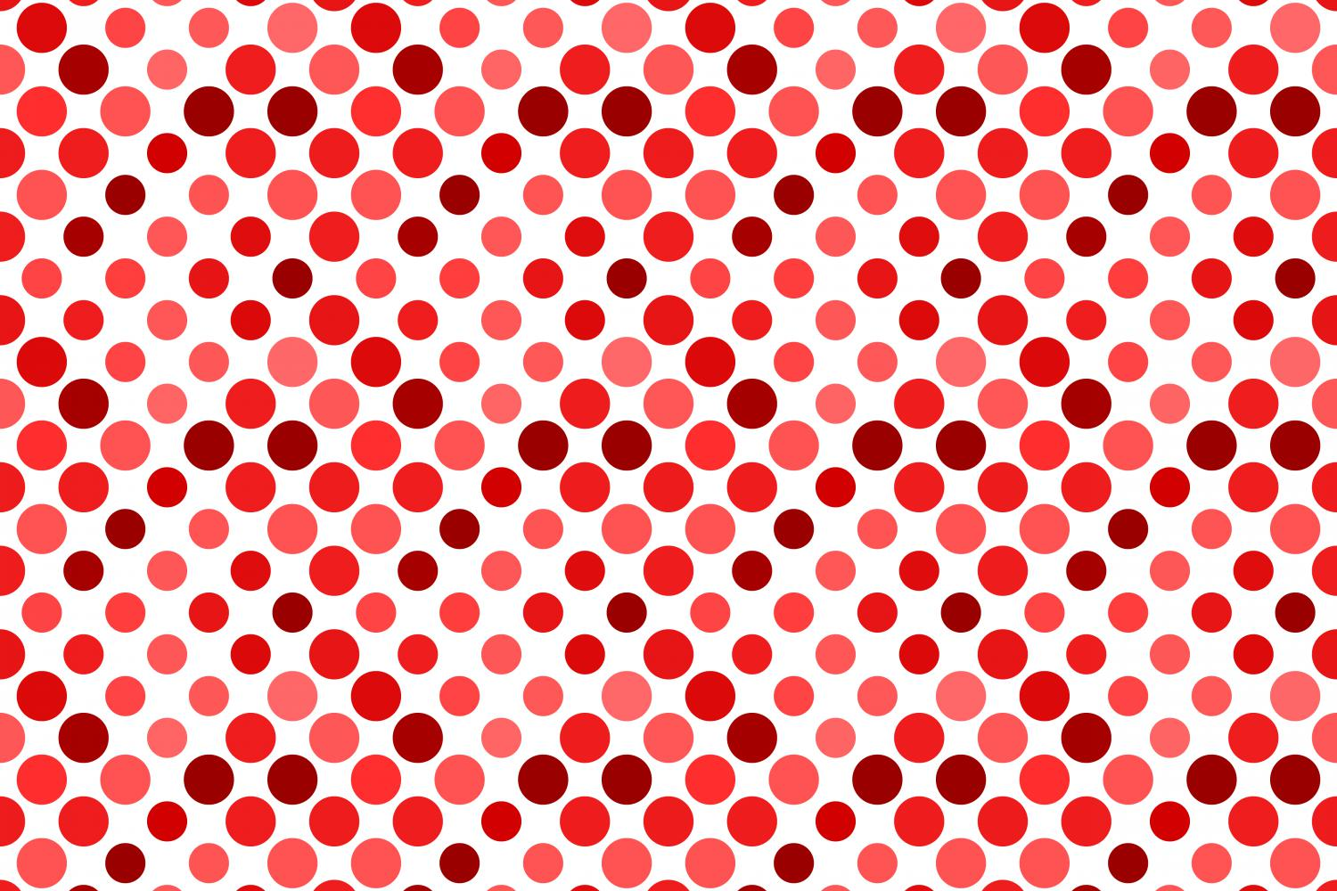 24 Seamless Red Dot Patterns example image 5