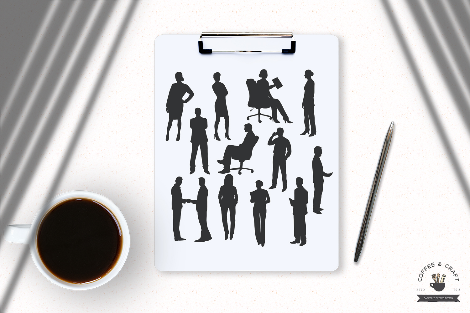 Business people silhouette example image 5