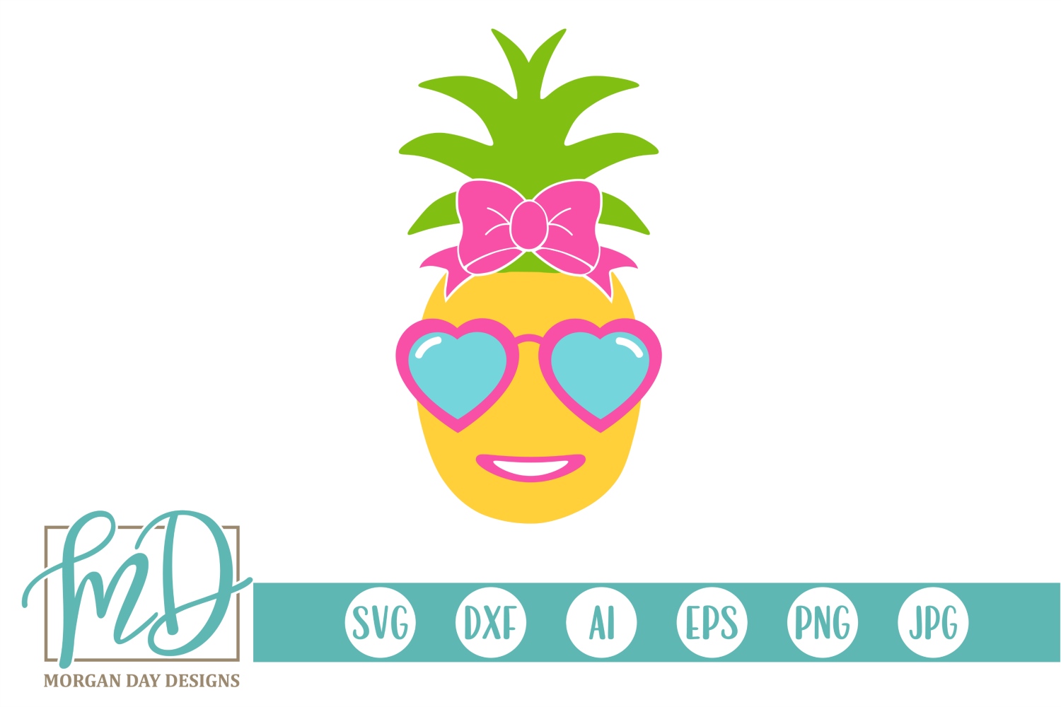 Pineapple Girl - Summer - Pineapple SVG example image 1