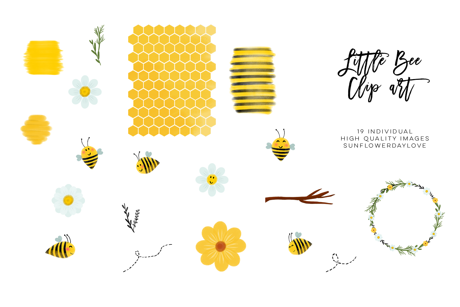 bee clip art, bees illustration, Honey bee clipart example image 4