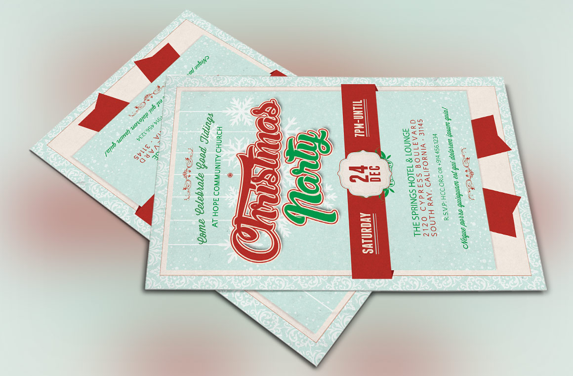 Church Christmas Party Flyer Template example image 3