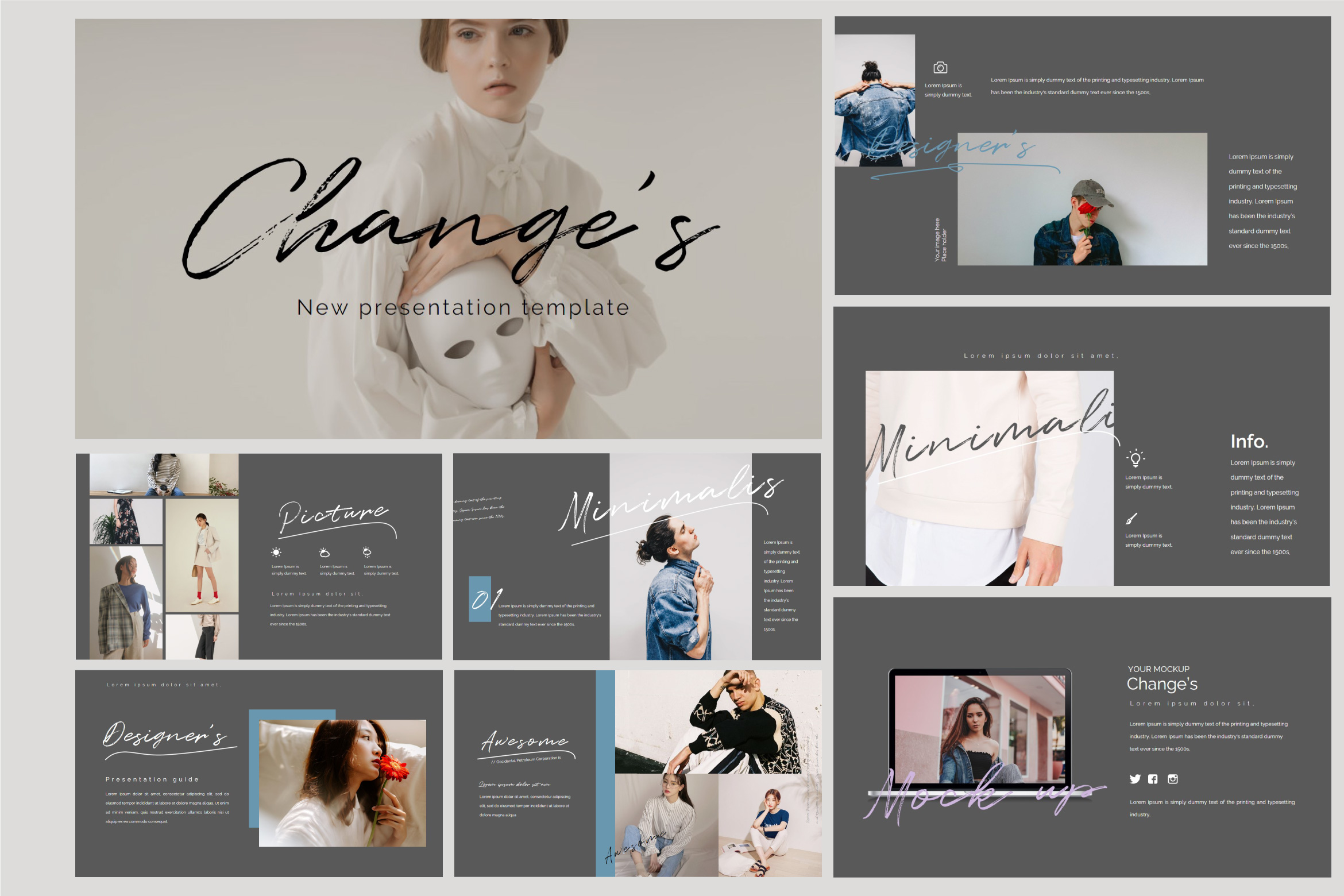 Change's - Fashion Google Slides Dark example image 2