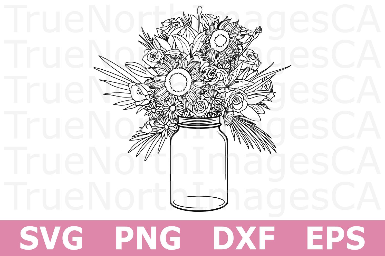 Flower Bouquet - A Nature SVG Cut File example image 1