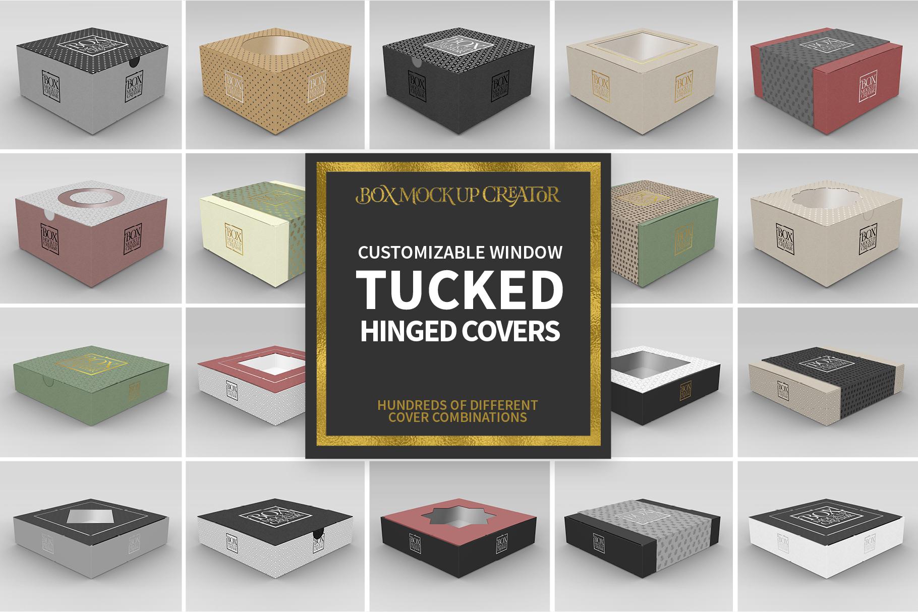 Square Box Packaging Mockup Creator example image 5