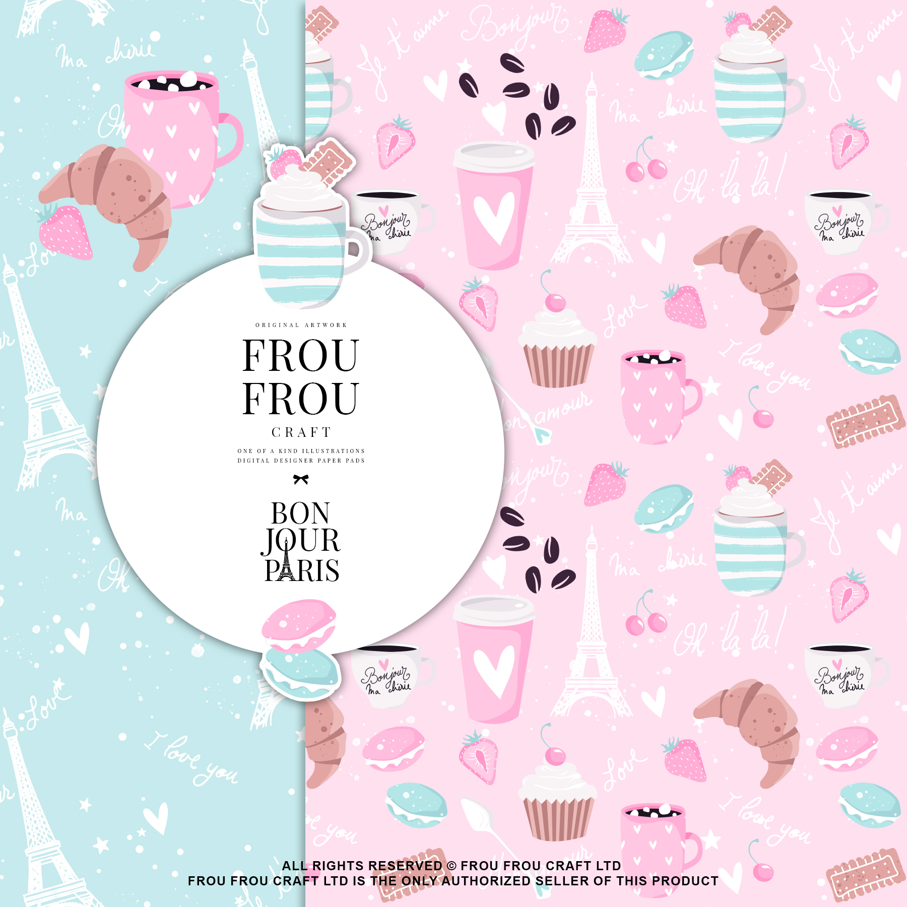 Paris Bakery Sweets Macaroons Cake Paper Pack example image 9
