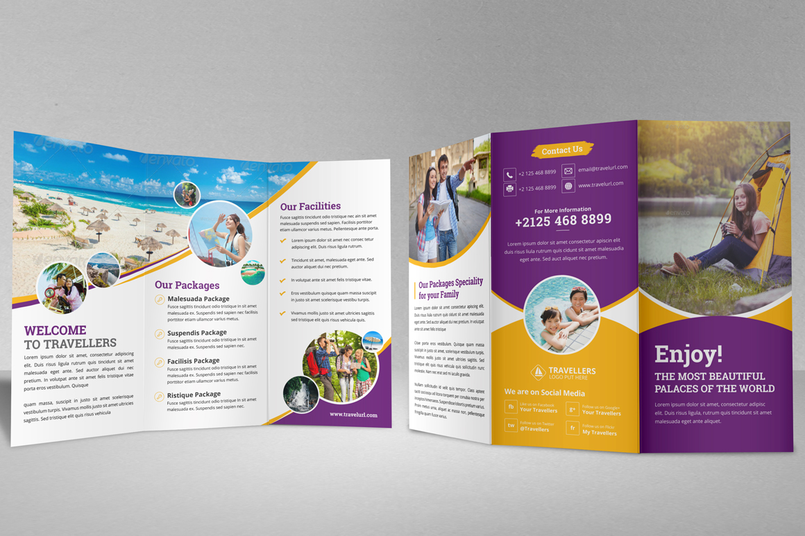Holiday Travel Bifold & Trifold Brochure v2 example image 14