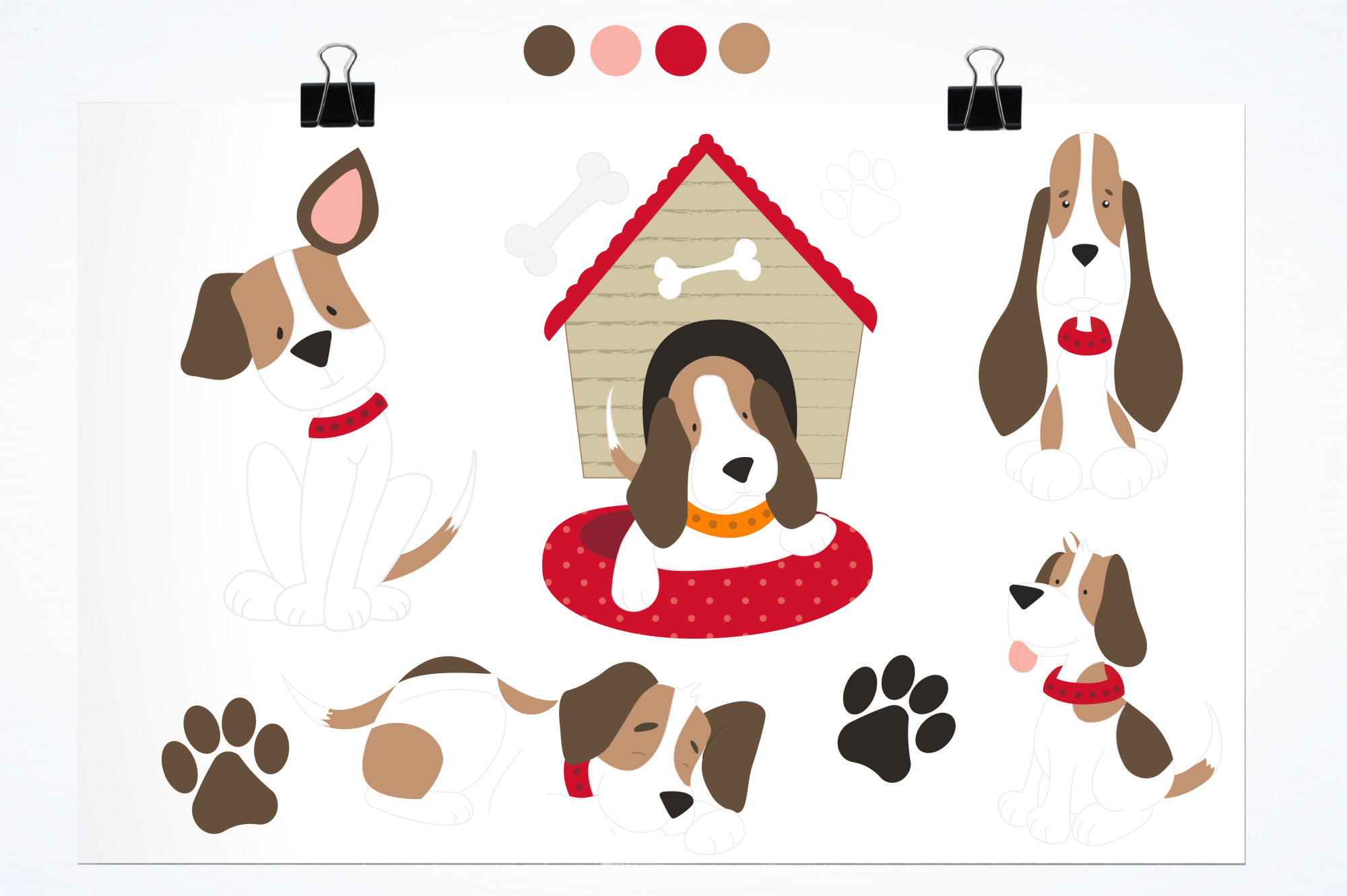 Beagle Love graphics and illustrations example image 2