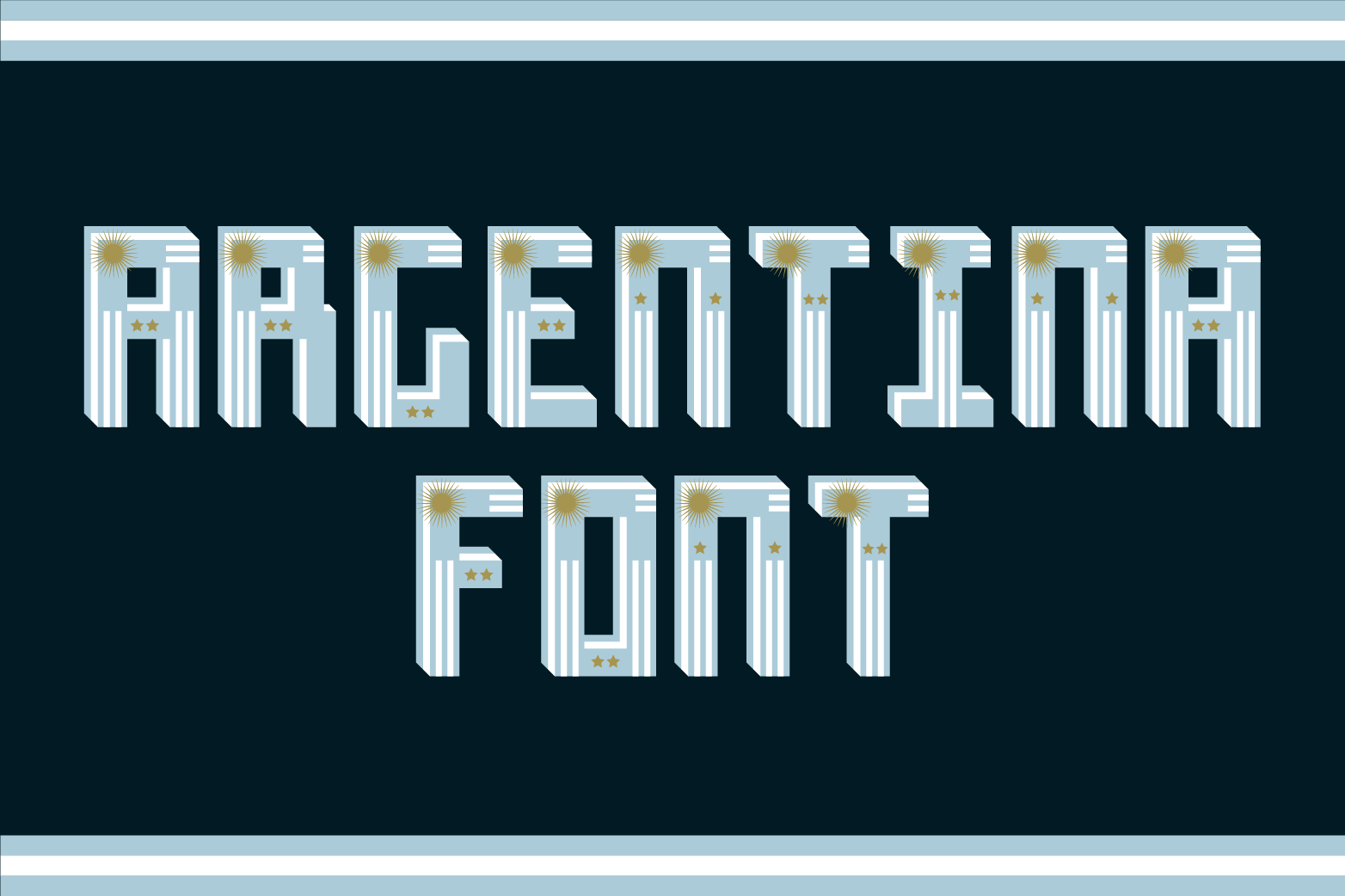 Argentina Font example image 1