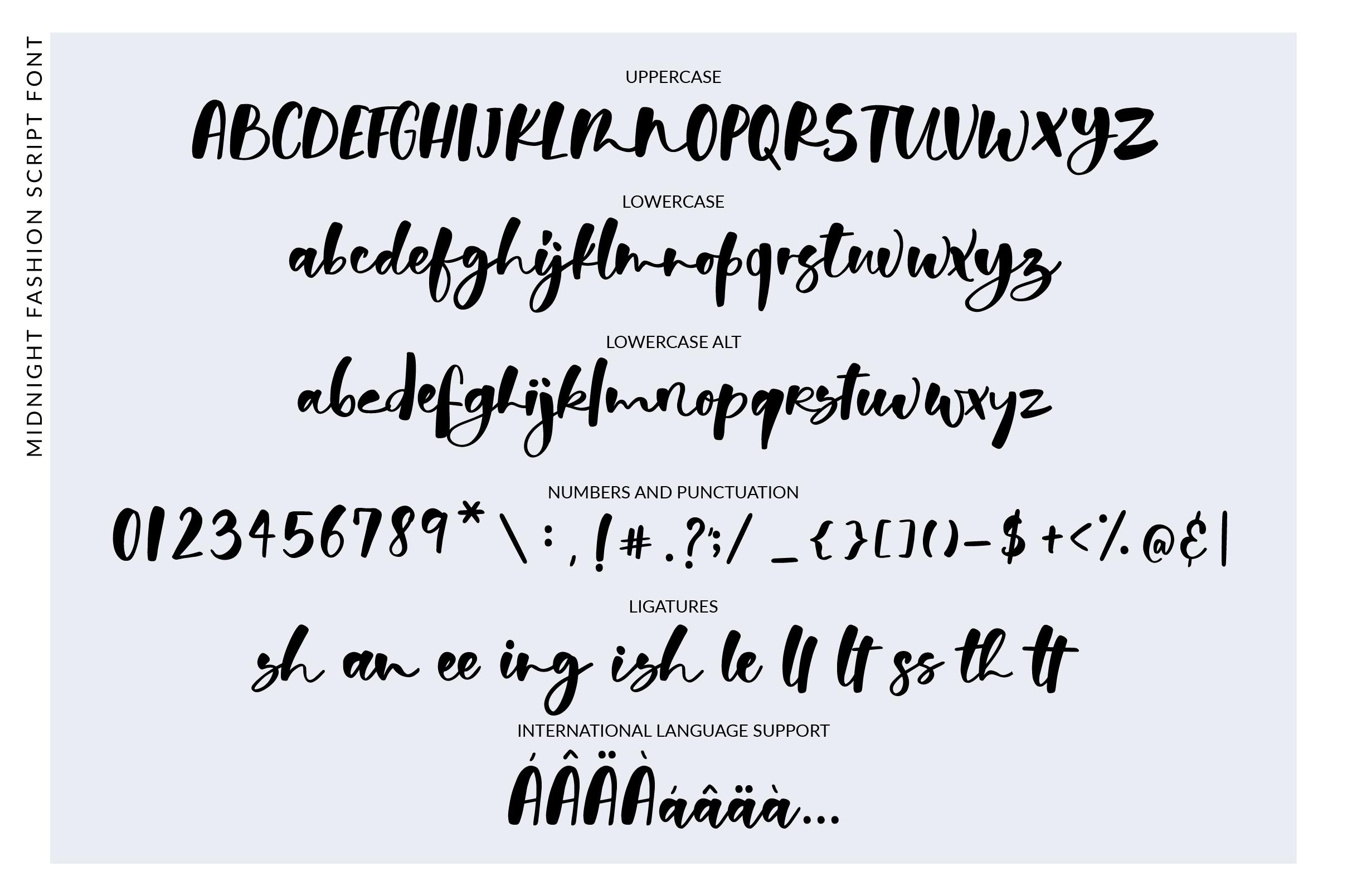 Midnight Fashion Font example image 3