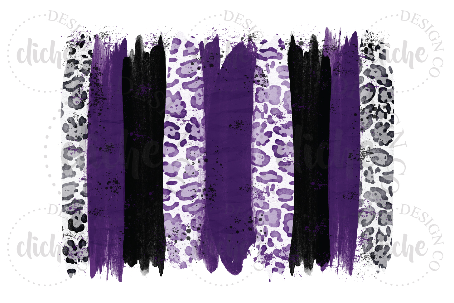 Purple Black Paint Stroke Sublimation Design Background example image 1