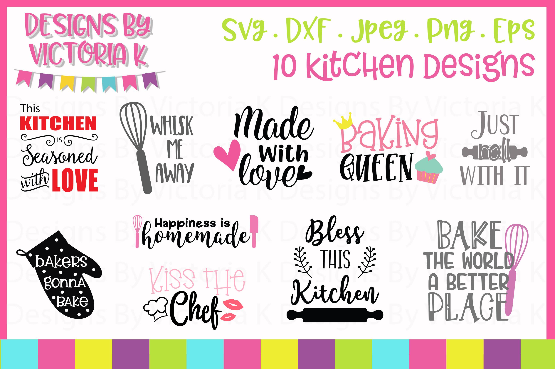Kitchen Bundle SVG cut files example image 1