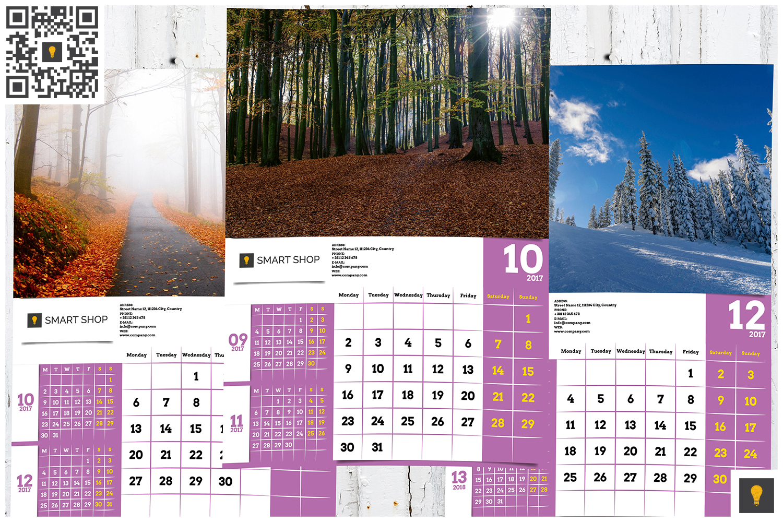 2017 Wall Calendar example image 9
