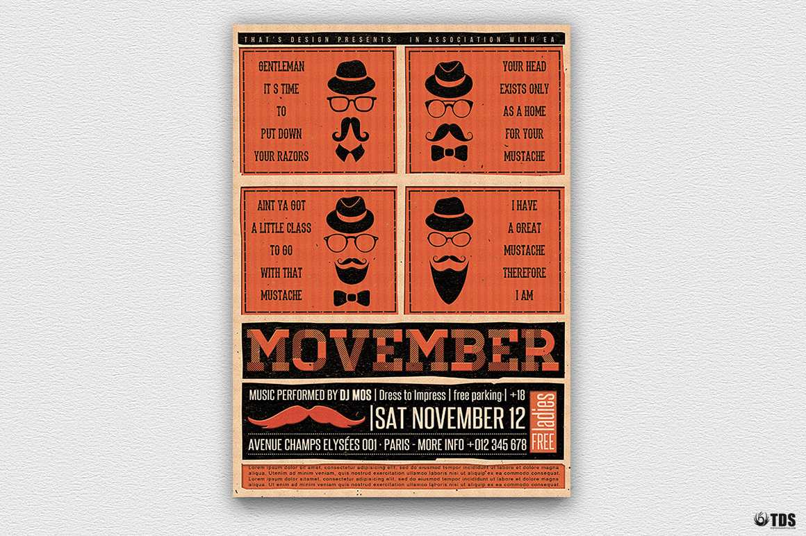Movember Flyer Template V1 example image 5