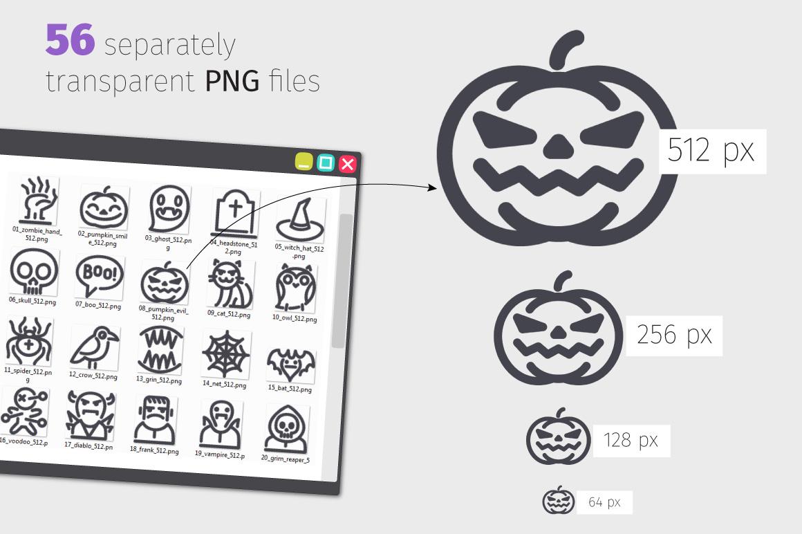 Halloween Line Icons Set example image 3