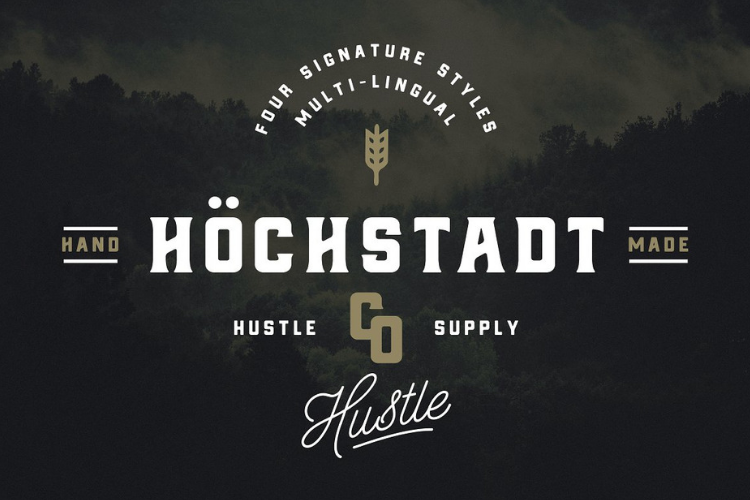 Höchstadt Font example image 2